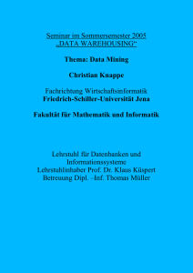 4. Visualisierungstechniken im Data Mining - Friedrich