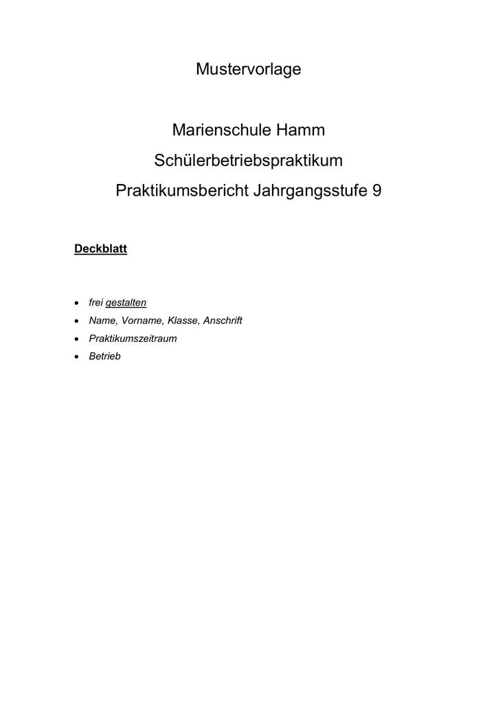 Praktikumsbericht Arbeiten In Einer Apotheke