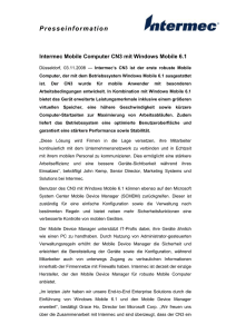 Intermec Mobile Computer CN3 mit Windows Mobile 6.1