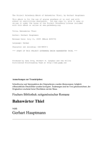 The Project Gutenberg EBook of Bahnwärter Thiel, by Gerhart
