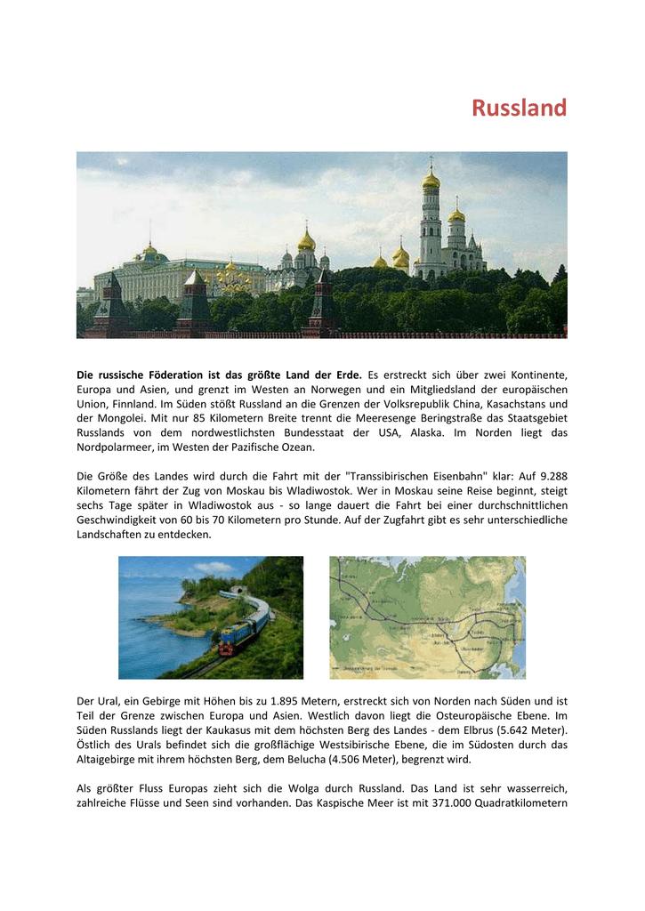 Russland kontinent europa oder asien