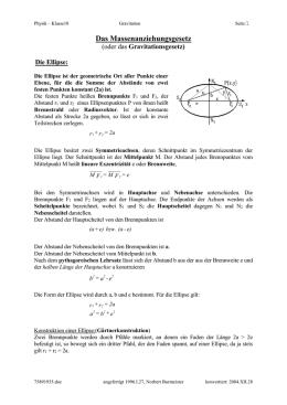 Gravitation, Keplersche Gesetze