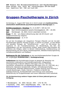 Gruppentherapie - therapiefinder