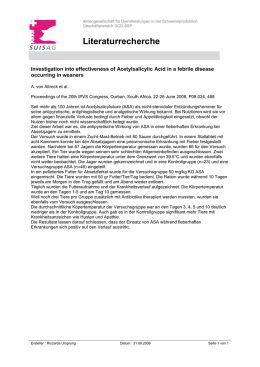 Investigation into effectiveness of Acetylsalicylic Acid in a febrile