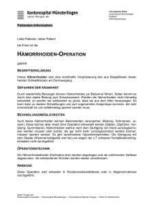 Hämorrhoiden-Operation