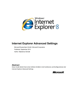 Internet Explorer Advanced Settings