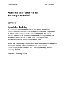 Trainingswissenschaf..