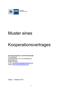 Mustervertrag Kooperationen (DOC,33 KB) - IHK
