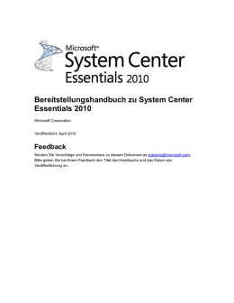 Installieren von System Center Essentials 2010