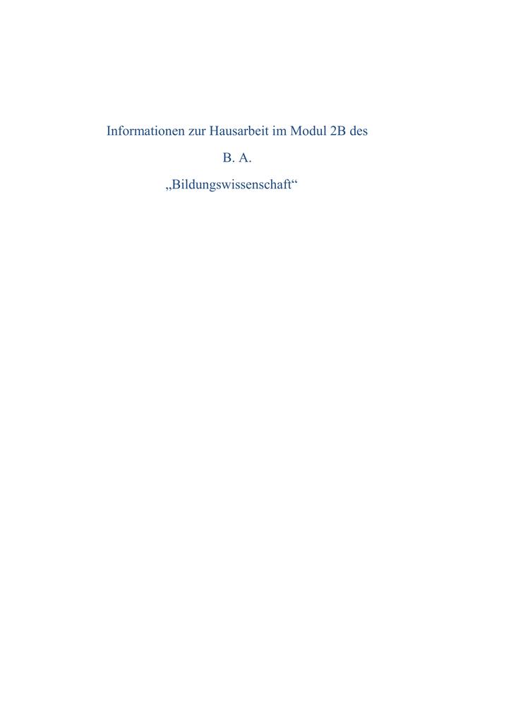 Hausarbeit 2b bildungswissenschaft weiterbildung medizin hanau