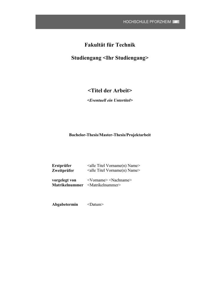 hdm bachelor thesis vorlage