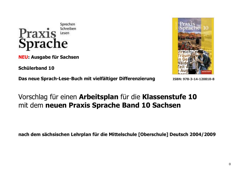 Praxis Sprache 10 - Schulbuchzentrum Online