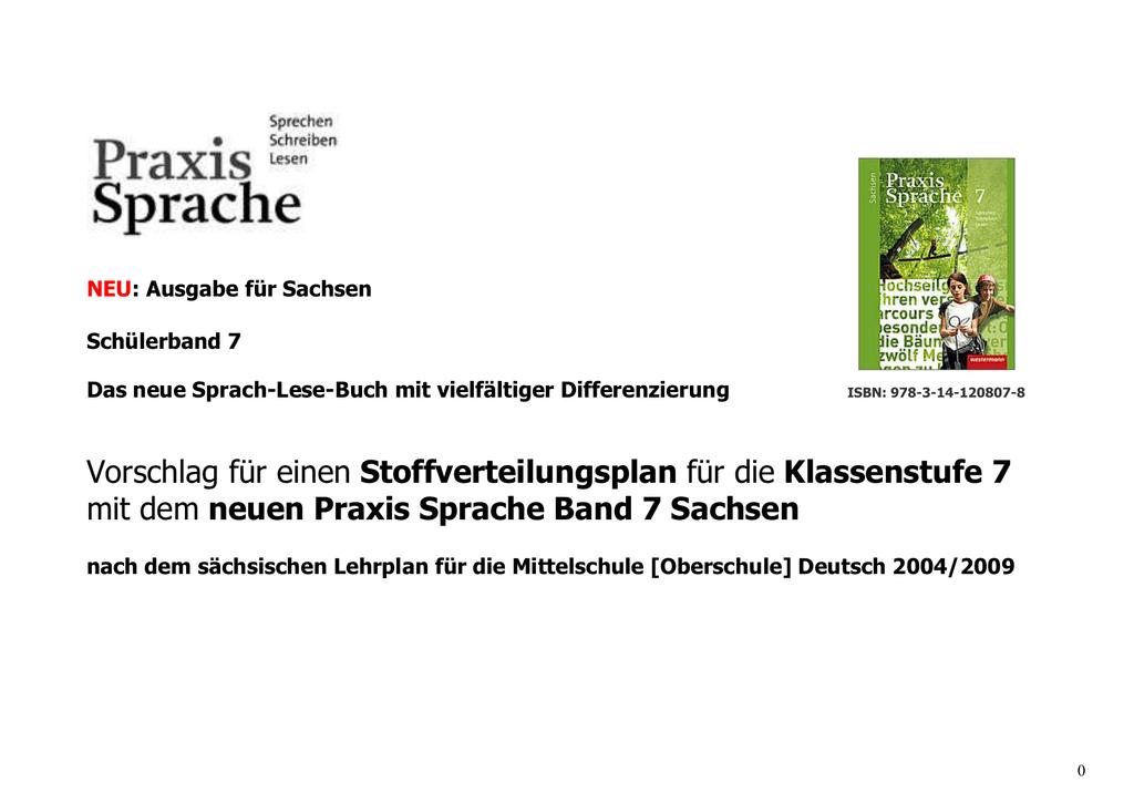 Praxis Sprache 7 - Schulbuchzentrum Online
