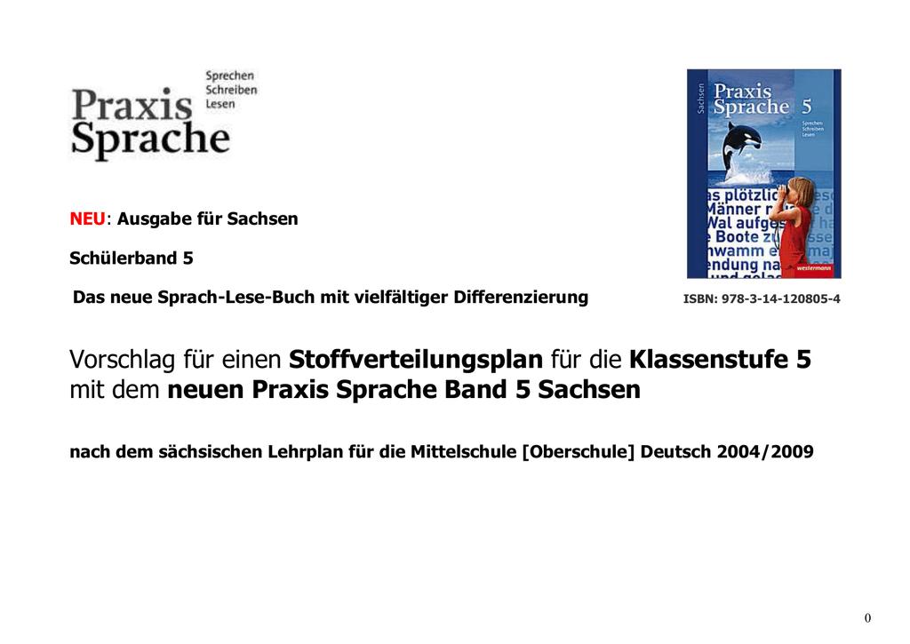 Praxis Sprache 5 - Schulbuchzentrum Online