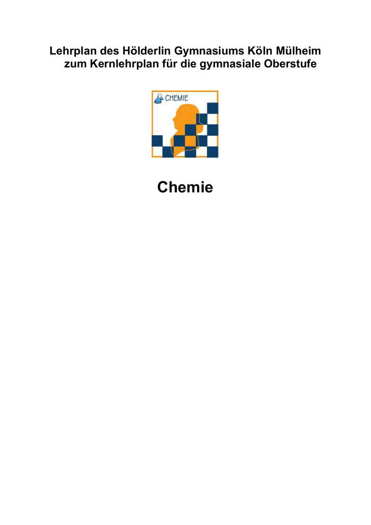 Curriculum Chemie SEK II - Hölderlin Gymnasium Köln