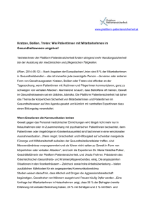 Pressetext - Plattform Patientensicherheit