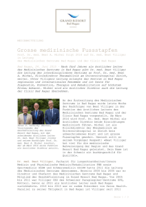 Medienmitteilung DOC - Grand Resort Bad Ragaz
