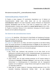 science2business Award 2012 - life
