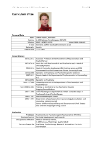 Curriculum Vitae - Managing your personal researcher profile