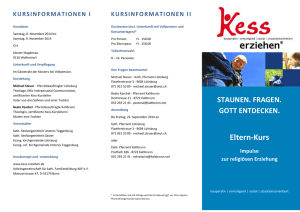 Kursinformationen I