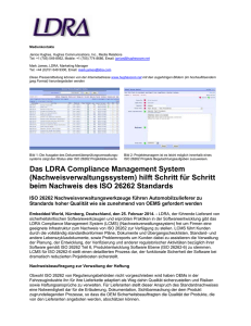 Das LDRA Compliance Management System