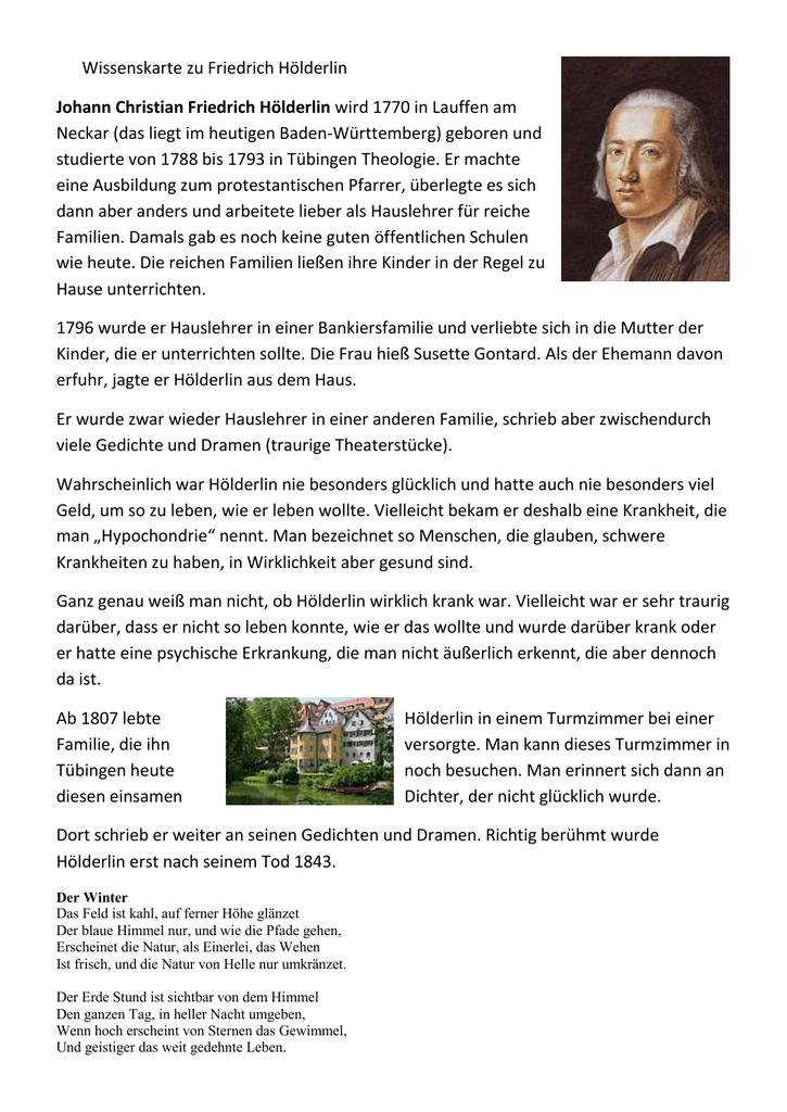 Wissenskarten Zu Hölderlin Heine Und Brecht