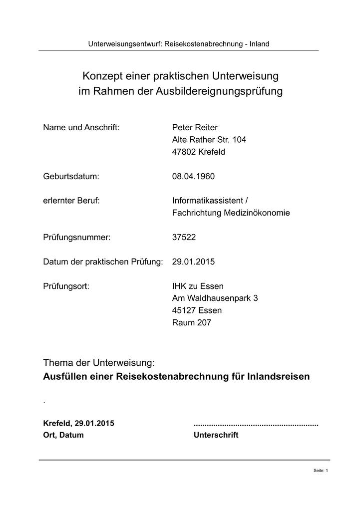Ada Prufung Reisekosten Meine Weiterbildungen 2015