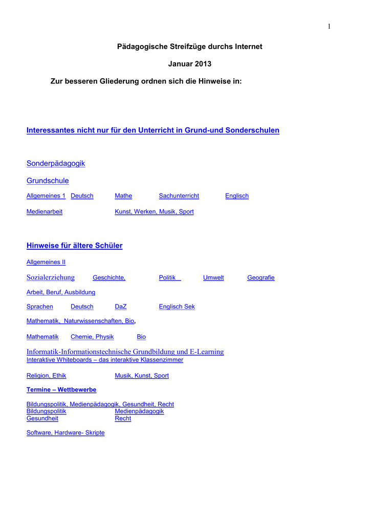 Januar 2013 Word Dokument.. - Sonderpädagogische Förderung