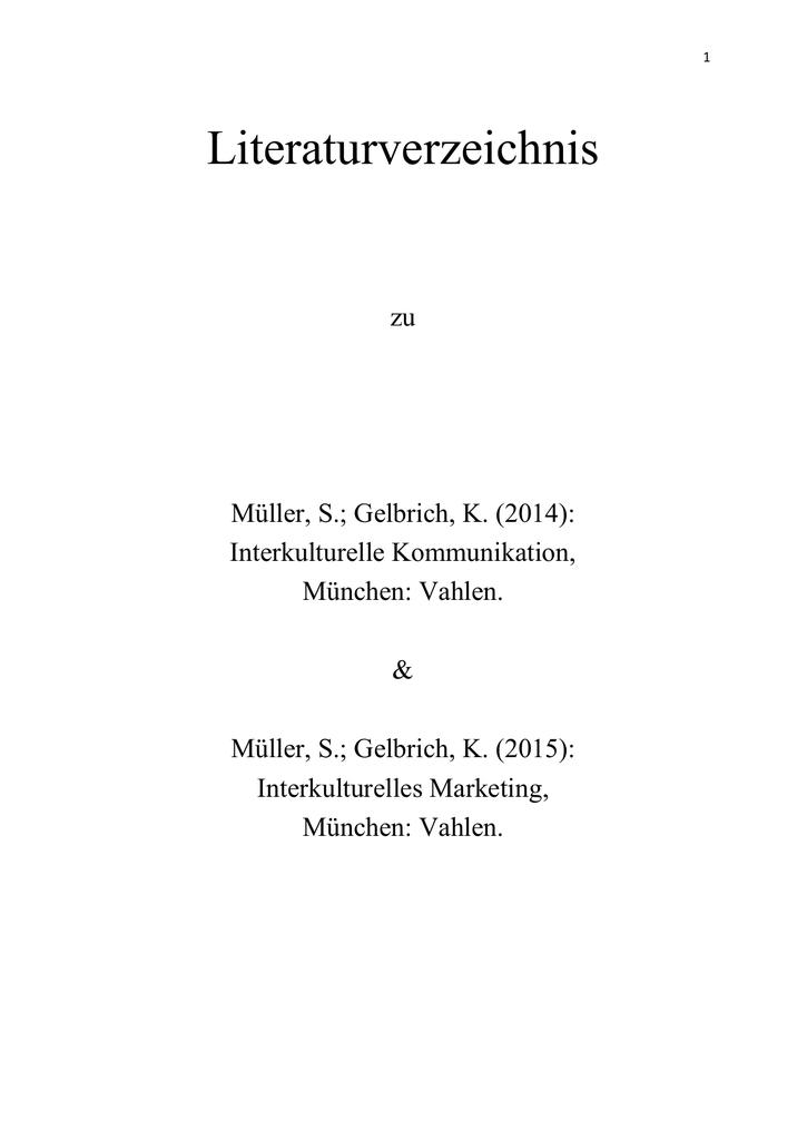 reputable site a8227 32c00 1 Literaturverzeichnis zu Müller, S.  Gelbrich, K. (2014)  Interkulturelle  Kommunikation, München  Vahlen.   Müller, S.  Gelbrich, K. (2015)  ...