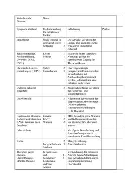 dokumentierte infektionen bei hämatologischen und onkologischen