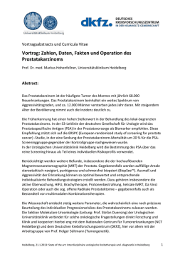 2a. Abstract und CV Prof. Hohenfellner