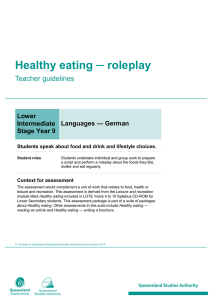 Healthy eating - Queensland Curriculum and Assessment Authority
