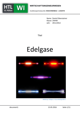 Referat über Edelgase – Word Dokument