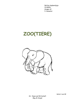 (zoo)tiere