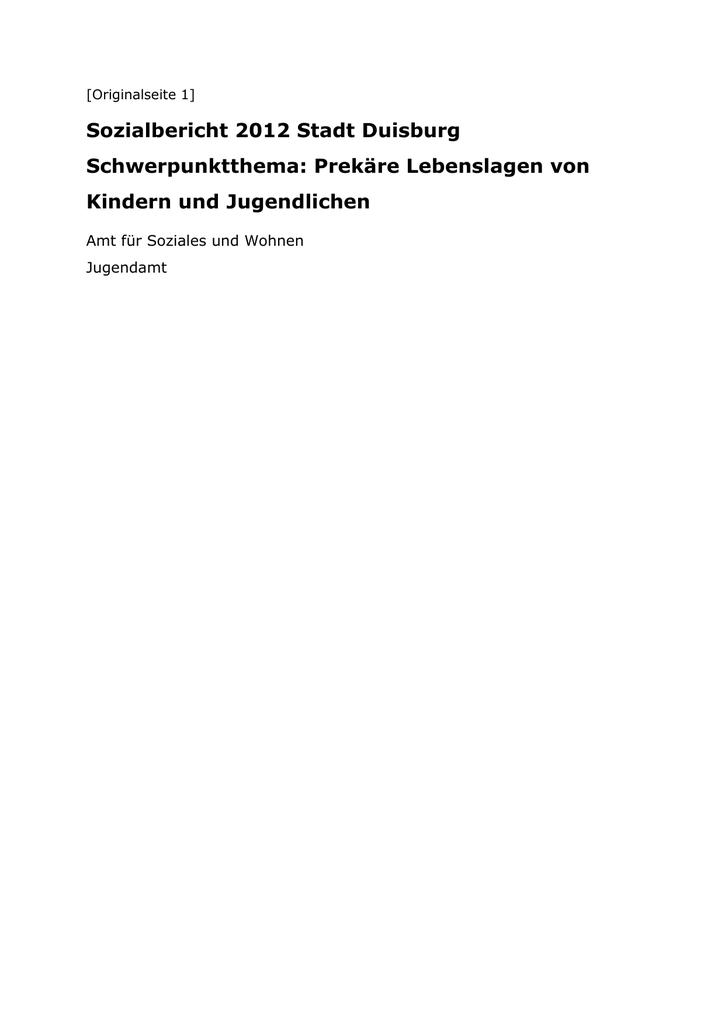 80615d9eb107c Sozialbericht 2012 Stadt Duisburg Schwerpunktthema