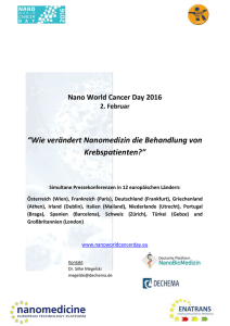 Die Pressekonferenzen zum Nano World Cancer Day
