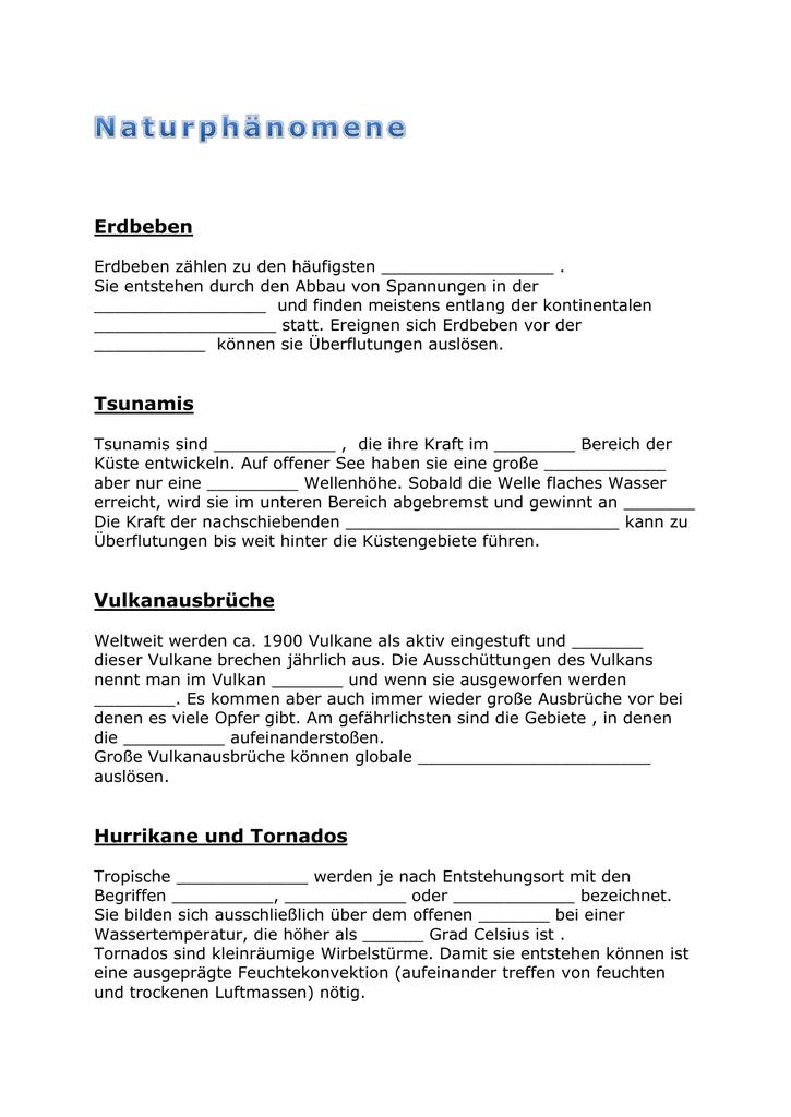 Lückentext - PH