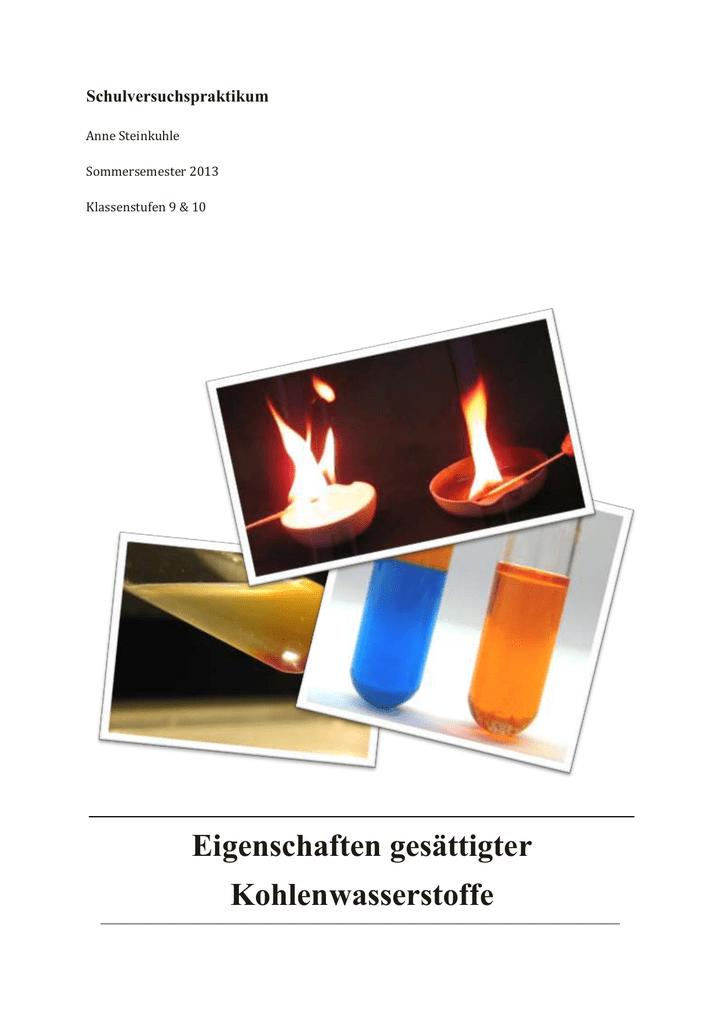Flüchtigkeit und Flammpunkte von Alkanen