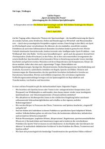 Cfp Entwurf_KB - Universität Oldenburg