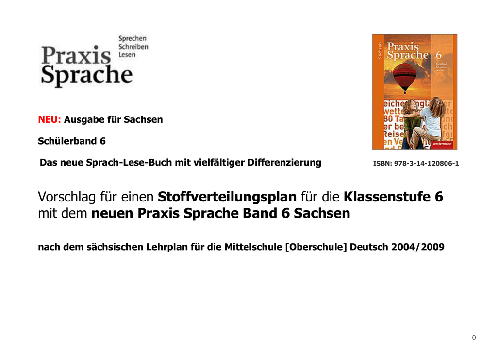 Praxis Sprache 6 - Schulbuchzentrum Online