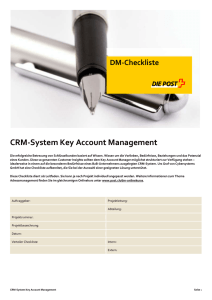 CRM System Key Account Management