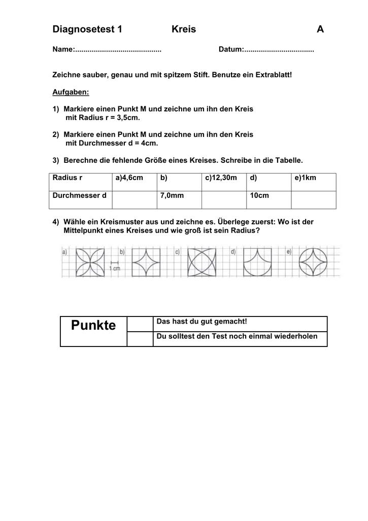 Atemberaubend Radius Und Durchmesser Arbeitsblatt Ideen ...