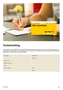 Texterbriefing