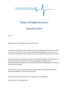 Pulse of Public Services