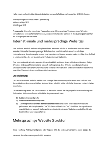 Internationale und mehrsprachige Websites