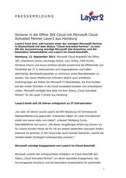 Sicherer in die Office 365 Cloud mit Microsoft Cloud