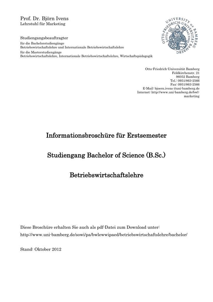 B.Sc. - Universität Bamberg