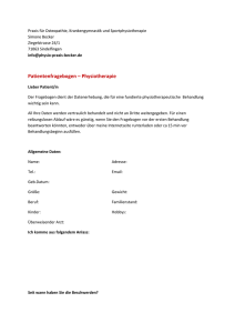 Befundbogen Physiotherapie