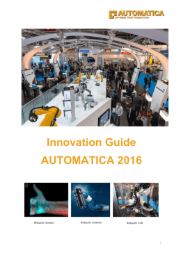 Innovation Guide AUTOMATICA 2016