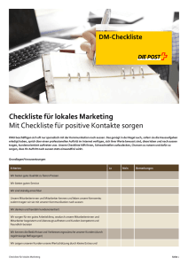 Checkliste für lokales Marketing